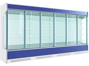 Glass systems for low temperature vertical cabinets